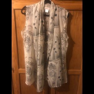 Coldwater Creek Scarf vest/cardigan